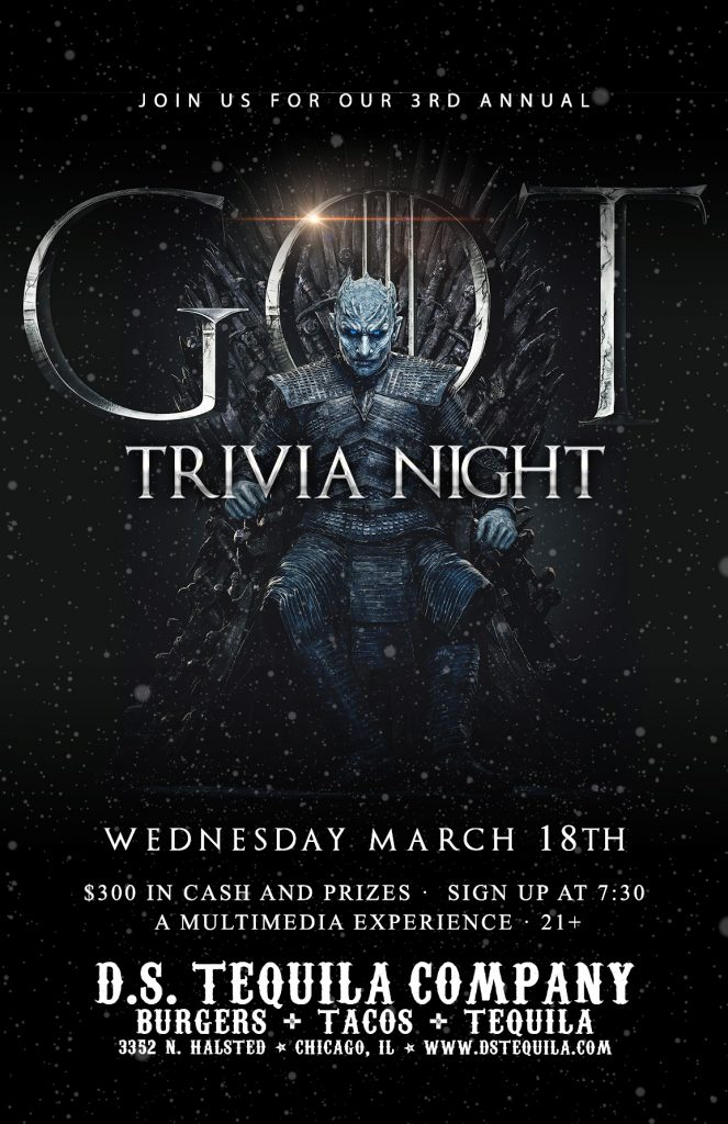 DS Trivia – Game Of Thrones 2020